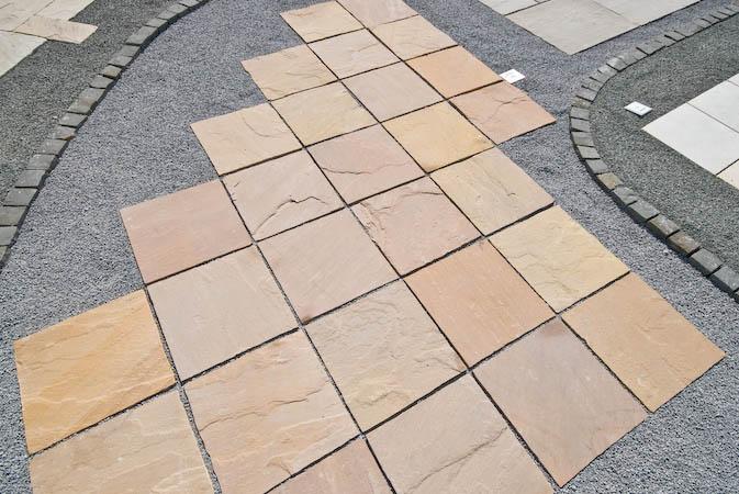 Standard size paving   Sandstone Mandra. Bartels Marble and Granite Works  Wedel  Hamburg  Kiel  L beck