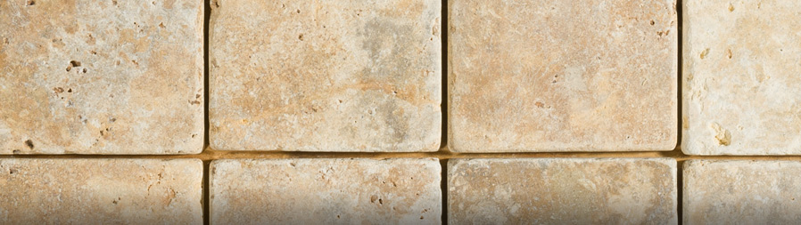 Limestone backsplash tile